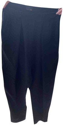 Fendi Black Silk Trousers