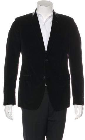 Gucci Leather-Trimmed Corduroy Blazer