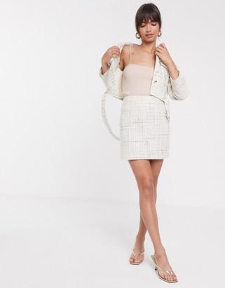 ASOS DESIGN boucle mini suit skirt