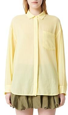Maje Cazelle Oversized Button-Down Shirt