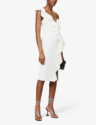 Lavish Alice Ruffled crepe midi dress