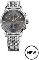 Hugo Boss Black Hugo Boss Black Jet Grey Multi Dial Stainless Steel Mesh Bracelet Mens Watch
