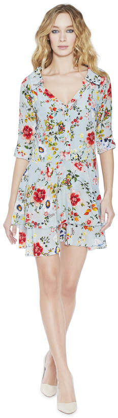 Alice + Olivia Moore Button Up Layered Tunic Dress