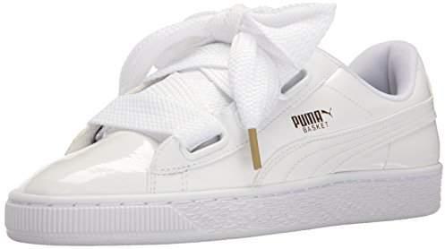 White Sneaker Basket Patent Women's Wn's Heart pLqMUGVSz