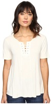 Calvin Klein Jeans Laced-Up Short Sleeve Tee