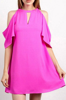Tcec Pink Cold-Shoulder Dress