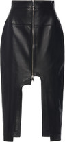Boyarovskaya Cut-Out Leather Skirt
