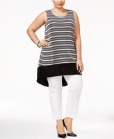 Alfani Plus Size High-Low Tunic Top, Only at Macy's