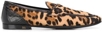 Dolce & Gabbana Leopard Print Slippers