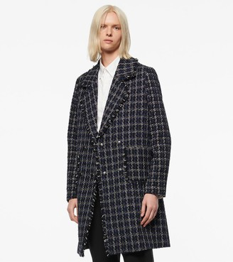 Andrew Marc CALLA DOUBLE-BREASTED TWEED COAT