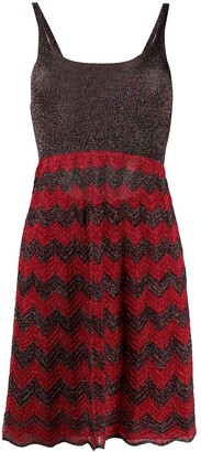 M Missoni Chevron Stripe Knitted Dress