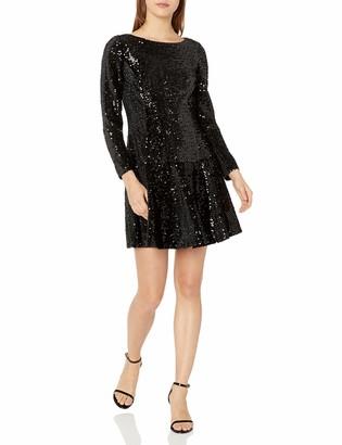 Eliza J Women's Long Sleeve Velvet and Sequin Dress (Regular & Petite)