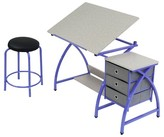 studio designs Comet Craft Table with Stool - Purple/Spatter Gray
