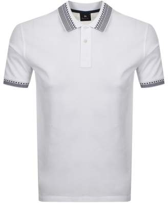 Paul Smith Tipped Polo T Shirt White