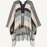Fat Face Knitted Stripe Cape