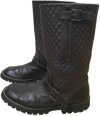 Chanel Brown Leather Boots