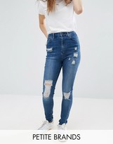 Waven Petite Anika Distressed Skinny Jean
