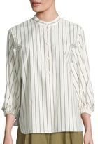 Tibi Stripe Tunic Top