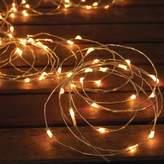 Solar-Powered 150-Bulb Micro LED String Lights