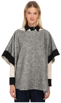 See by Chloe Brushed Jersy Pancho Top