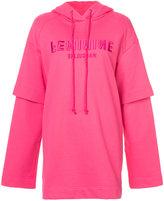 Juun.J Feminine layered hoodie