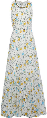 Talitha Collection Floral-print Cotton And Silk-blend Poplin Maxi Dress