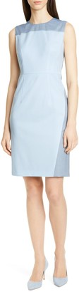 HUGO BOSS Doreli Wool Seamed Sheath Dress (Regular & Petite)