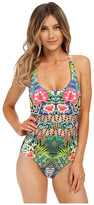 Red Carter Shangri La Cut Out Mio One-Piece