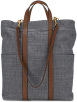 Mismo - denim tote bag - men - Cotton/Leather - One Size