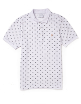 Farah Short Sleeve Pique Polo Shirt with Dot Print