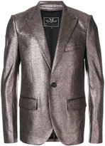 Unconditional peaked lapel metallic (Grey) jacket