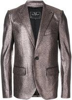 Unconditional peaked lapel metallic jacket - men - Silk/Cotton - S