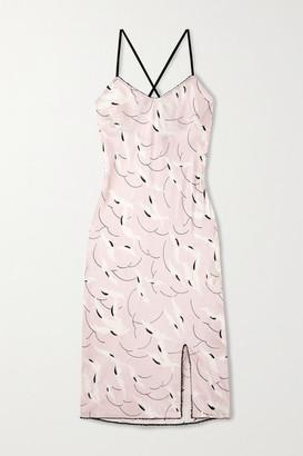 Morgan Lane Alivia Printed Satin Chemise - Pastel pink