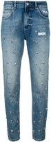 Zoe Karssen heart stud detail jeans