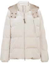 Brunello Cucinelli Quilted Velvet Down Jacket - Ivory