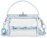 Gu De Water Leather-Trimmed PVC Crossbody Bag