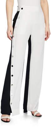 Derek Lam 10 Crosby Colorblock Snap Side Track Pants