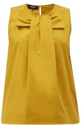 Rochas Pamela Bow Front Cotton Poplin Blouse - Womens - Yellow