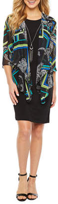 R & K Originals 3/Sleeve Faux Jacket Dress