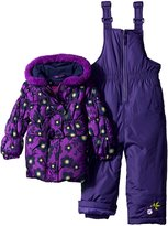"Pink Platinum Baby Girls' ""Spirited Flowers"" 2-Piece Snowsuit"