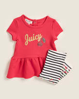 Juicy Couture (Infant Girls) Two-Piece Cherry Tunic & Striped Leggings Set