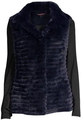 Glamour Puss Rabbit Fur & Cashmere Knit Vest