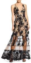Dress the Population Gig Floral Illusion Gown