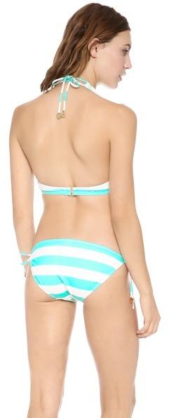 Juicy Couture Sixties Stripe Halter Bikini Top
