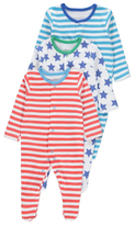 George 3 Pack Stars and Stripes Sleepsuits
