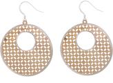 Bliss Two-Tone Geometric Drop Earrings