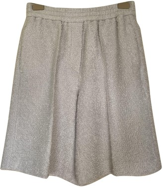 Brunello Cucinelli Grey Wool Shorts for Women