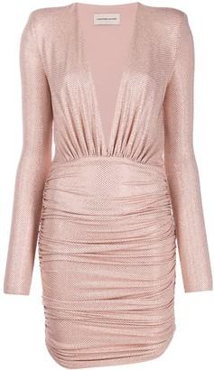 Alexandre Vauthier embellished deep V dress