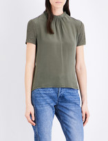 Claudie Pierlot Thomas draped-back silk and linen top