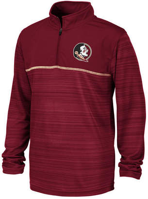 Colosseum Big Boys Florida State Seminoles Striped Mesh Quarter-Zip Pullover